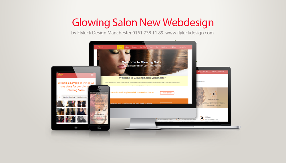 Glowing Salon Responsive Design